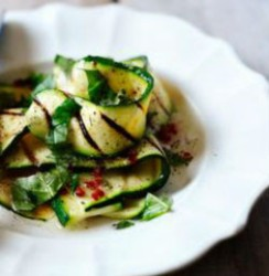 Courgette, chilli & basil salad