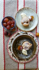 Plum and Almond Sponges