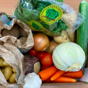 veg box from low sizergh barn