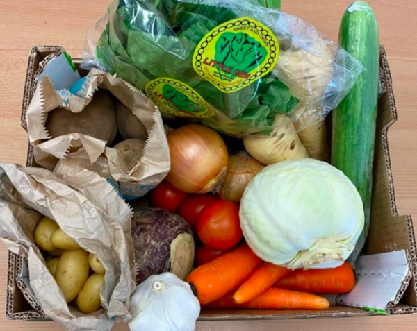 veg box from low sizergh barn