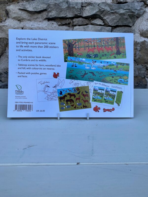 The Lake District Sticker Book Back Cover