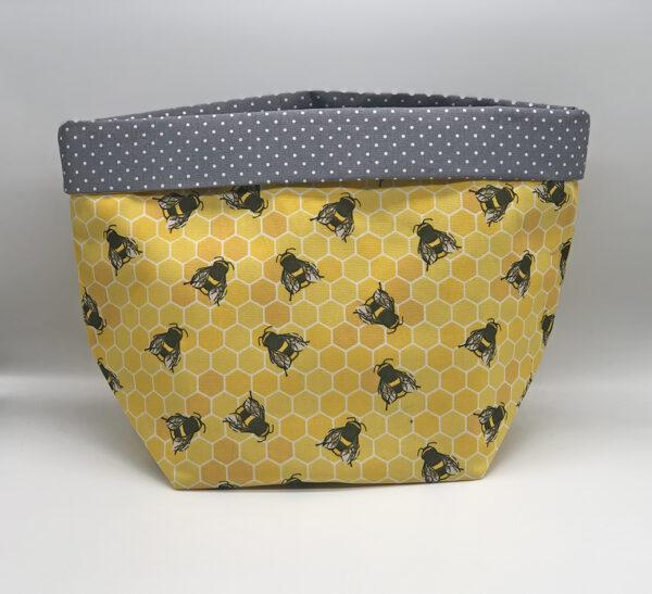 Fabric Storage Basket in Bee Print