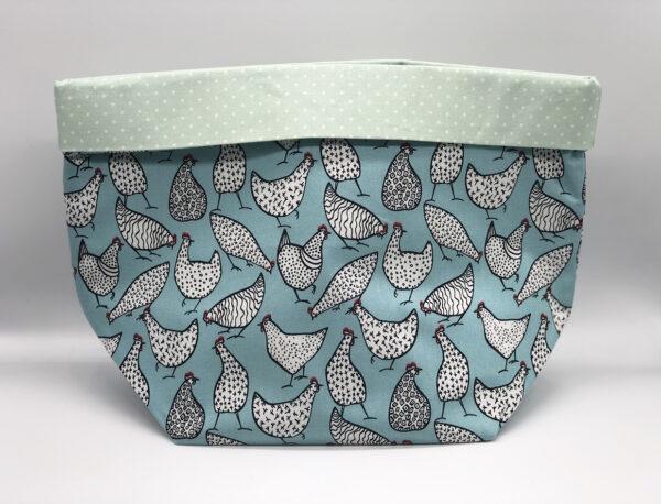 Fabric Storage Basket in Chicken Print