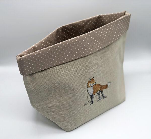 fabric storage basket in Vixen print