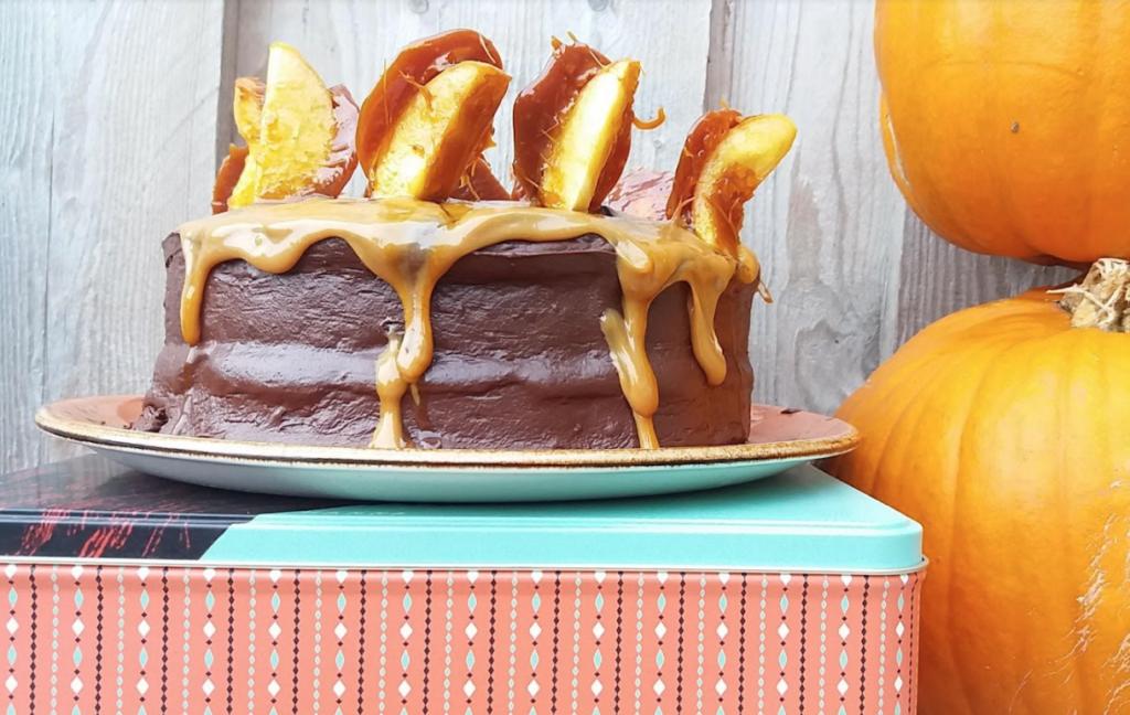 Pumpkin and chocolate cake